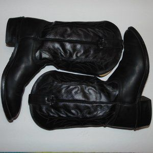 Wrangler Men's black Leather cowboy boots size 11D